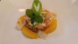 antipasto arancia e salmone