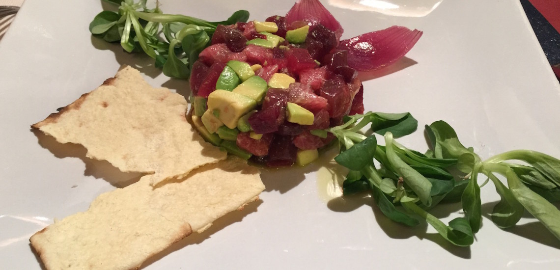 tonno avocado antipasto